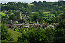 SK3463 : View of Ashover from the south west by Pete Wise