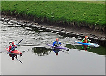 SJ8092 : Canoes on the Mersey by james