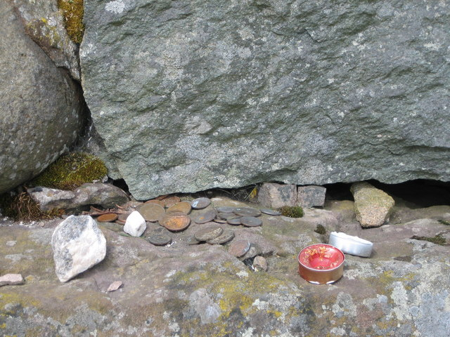 Votive offerings at the Maggie Wall Memorial