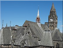SD8913 : Roofs of Rochdale Town Hall by Peter Thwaite