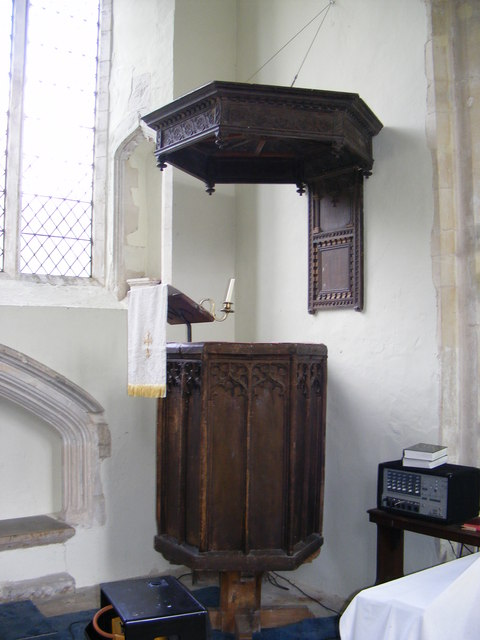 The Pulpit of St.Lawrence Church, Brundish