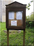 TM2769 : Notice Board of St.Lawrence Church, Brundish by Adrian Cable