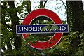 TQ2888 : London Underground roundel, Highgate Station by Jim Osley