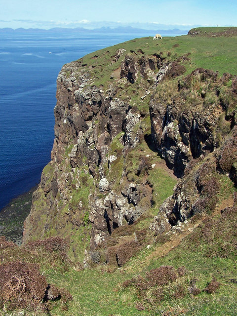 Waternish peninsula cliffs