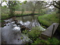 NR3563 : Weir on the River Sorn for the Islay Woollen Mill by Andrew Abbott