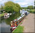 TL6298 : Boats moored on the River Wissey, Hilgay by Evelyn Simak