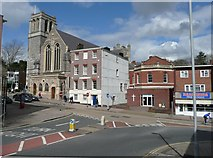 SX9292 : Churches, South Street, Exeter by Humphrey Bolton
