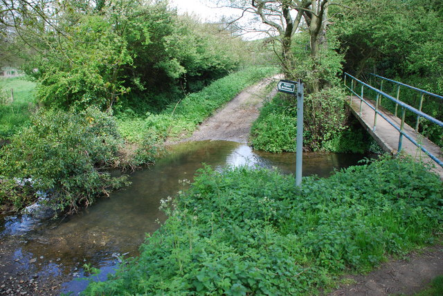 Ford and Footbridge on Bridleway near Bag Enderby