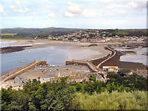 SW5130 : St Michael's Mount Harbour and Causeway by David Dixon