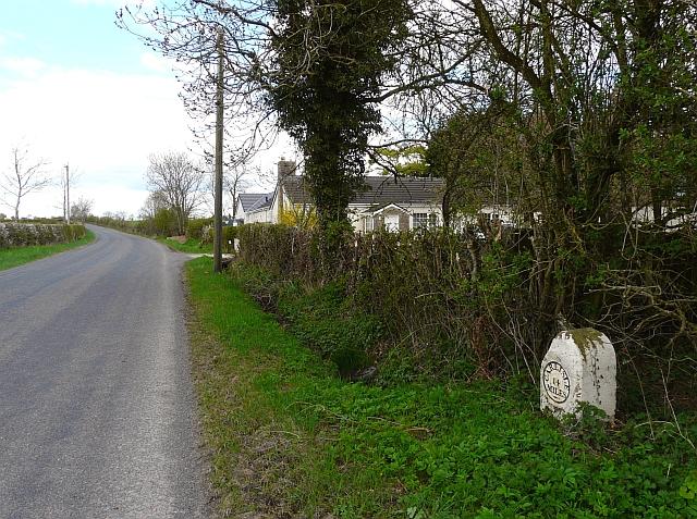 Milestone on the Longtown to Penton road
