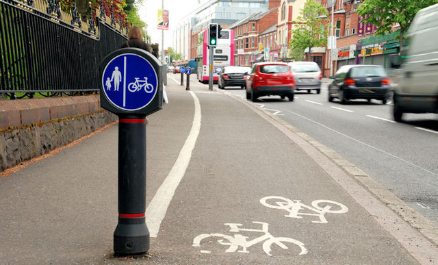 Cycle lane, Belfast (1)