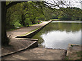 SP1097 : The dam, Blackroot Pool, Sutton Park by Robin Stott