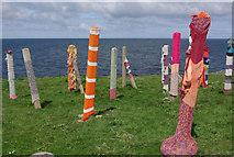 NJ9967 : Art at Kinnaird Head by Stephen McKay
