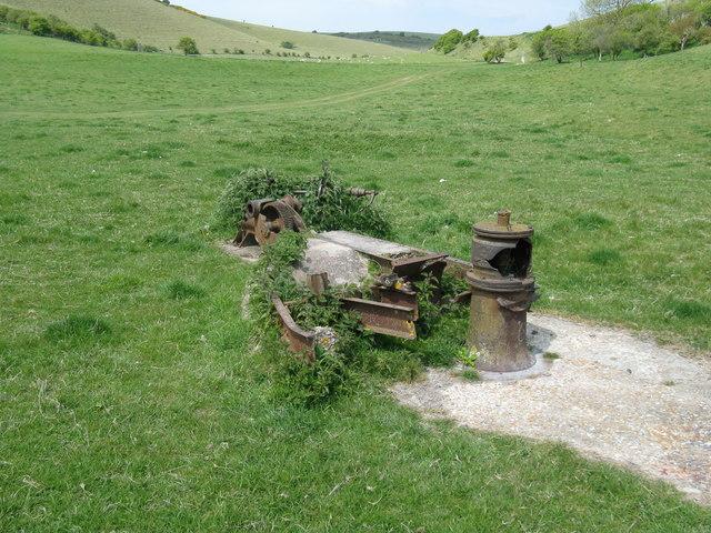 Industrial artefacts in Falmer Bottom (1)