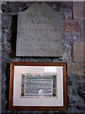 SD5871 : Commemorative tablet, Arkholme Church by Karl and Ali