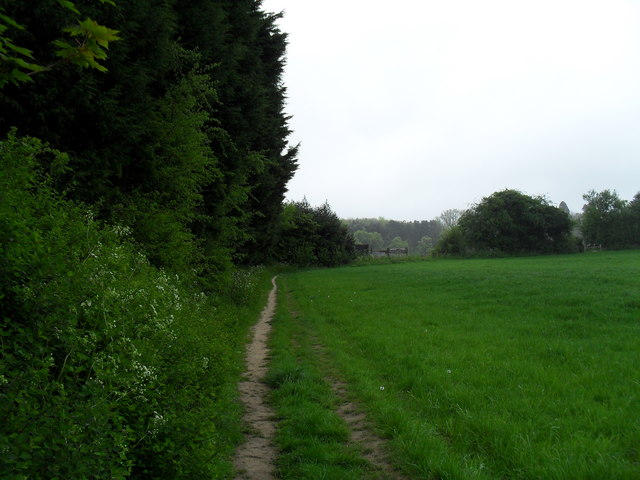 Footpath From Christmas Tree Farm To C Basher Eyre Geograph