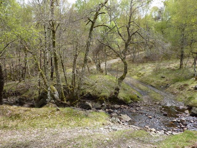 Track crossing the Allt nam Balloch