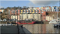 ST5772 : New housing above Bristol Harbour - viewed from the Marina by Anthony O'Neil