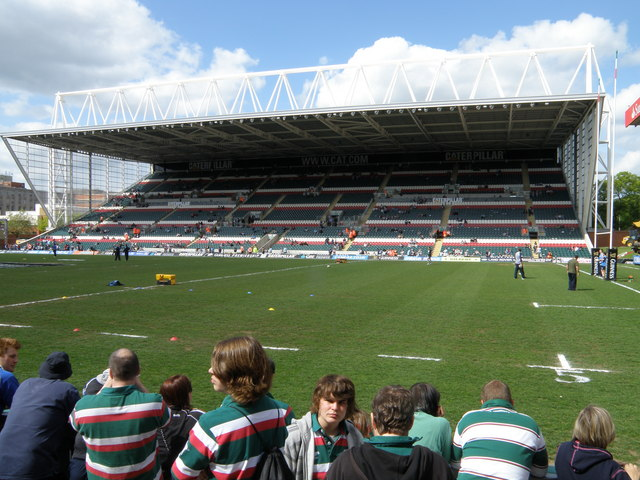 Caterpillar Stand at Welford Road