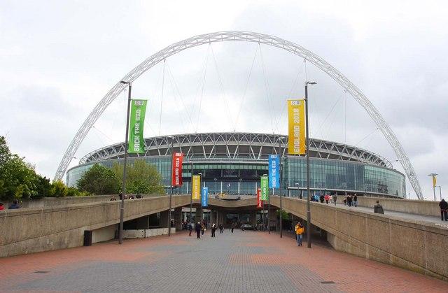 Wembley Stadium from Olympic Way