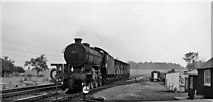 SK9141 : Site of Barkston Station, with train by Ben Brooksbank