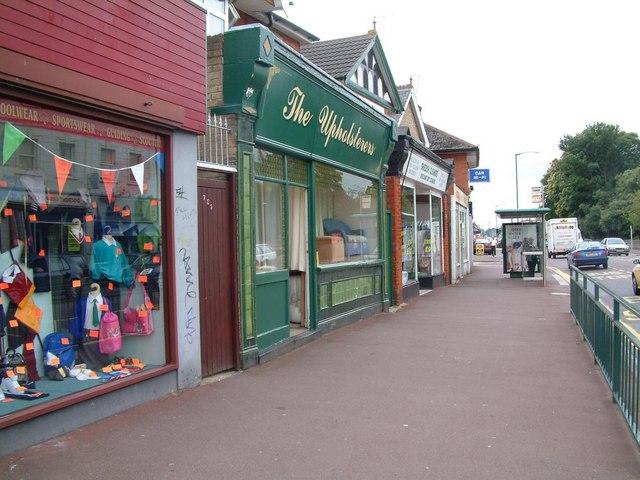 Wimborne Road shops near junction with Moorfield Grove