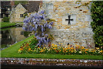 TQ4745 : Southern Wall of Hever Castle, Kent by Peter Trimming