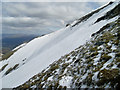 NN4324 : Thick snow nearing Ben More summit by Stephen Sweeney