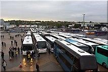 TQ1985 : The coach park at Wembley Stadium by Steve Daniels
