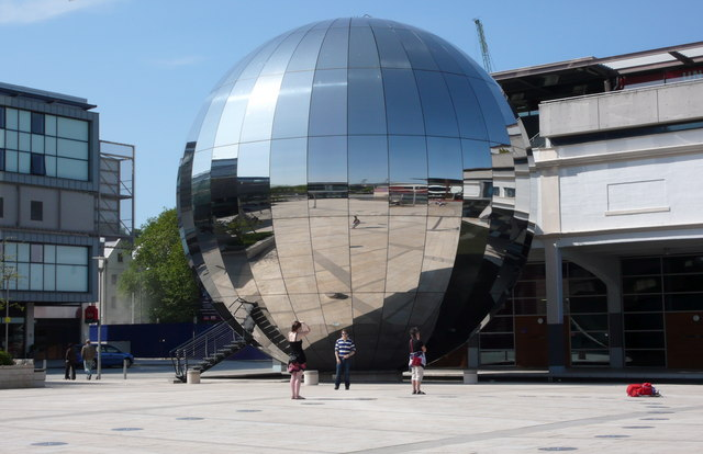 Mirrored sphere of the Planetarium