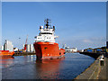 "TG5205 : Platform Supply Vessel ""E.R. Arendal"" on the River Yare by John Lucas"