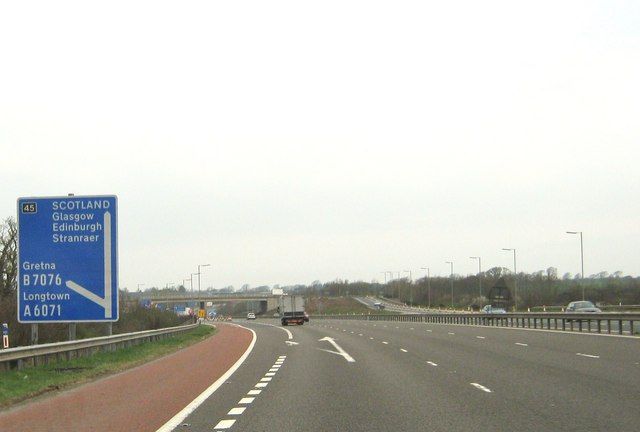 Junction 45 on the M6