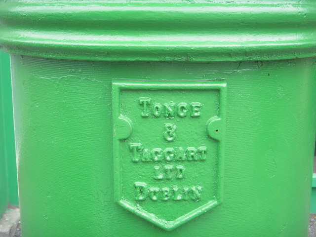 Manufacturer's Plaque on Postbox, Co Meath