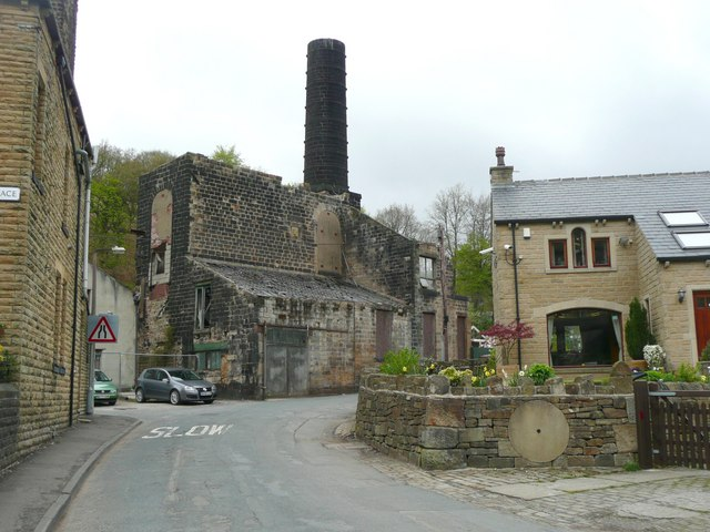 Ruined mill and new house, Cornholme, Todmorden