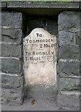 SD9126 : Milestone, Burnley Road, Todmorden by Humphrey Bolton