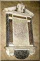 TF8521 : All Saints' church in Weasenham - memorial by Evelyn Simak