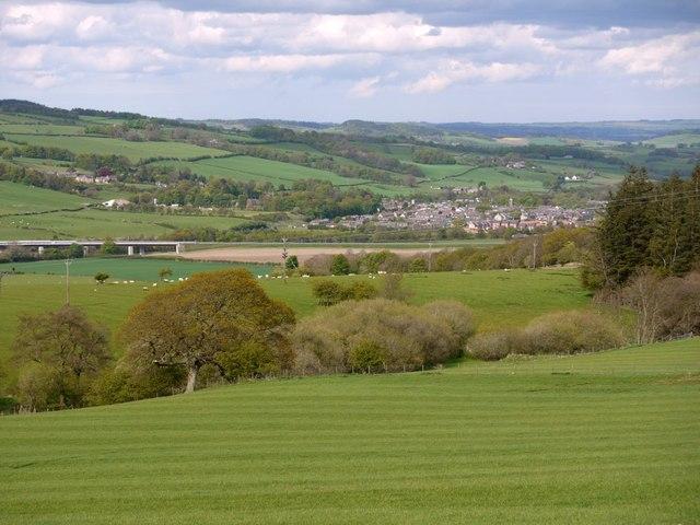 Fields near East Deanlaw