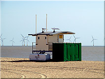 TG5307 : Lifeguard station on Great Yarmouth beach by John Lucas