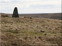 NY5775 : Cairn and moorland north of Borderrigg (2) by Mike Quinn