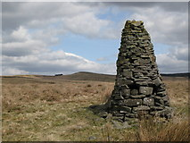 NY5775 : Cairn and moorland north of Borderrigg (3) by Mike Quinn
