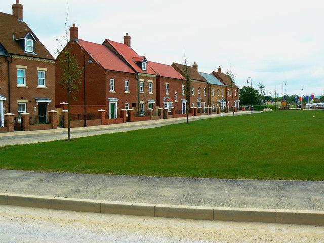 Completed houses, East Wichel, Wichelstowe, Swindon