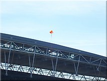 TQ1985 : Tangerine Balloons over Wembley Stadium by Terry Robinson