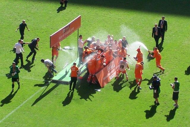 Tangerine Champagne at Wembley Stadium