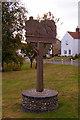 TG0934 : Village Sign, Edgefield, Norfolk by Christine Matthews