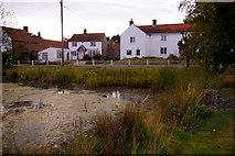 TG0934 : Pond, Edgefield, Norfolk by Christine Matthews