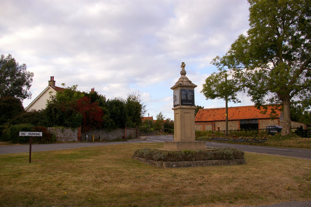 War Memorial, Edgefield, Norfolk