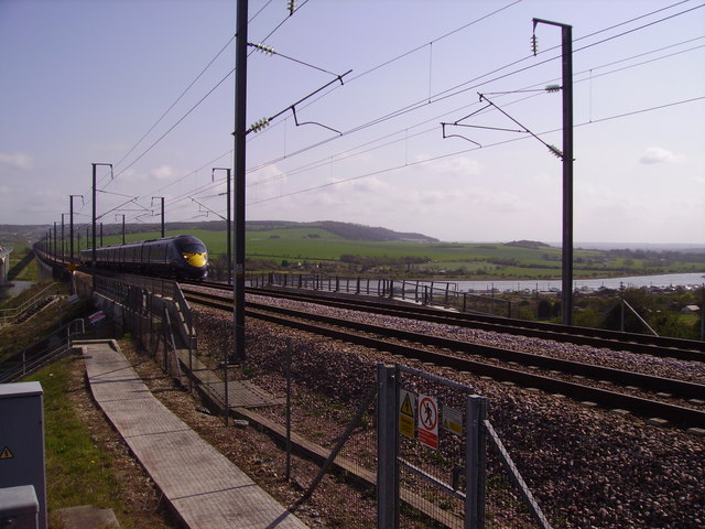 A Javelin crosses the Medway Viaduct