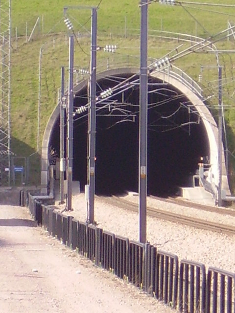 Southern portal of the North Downs Tunnel