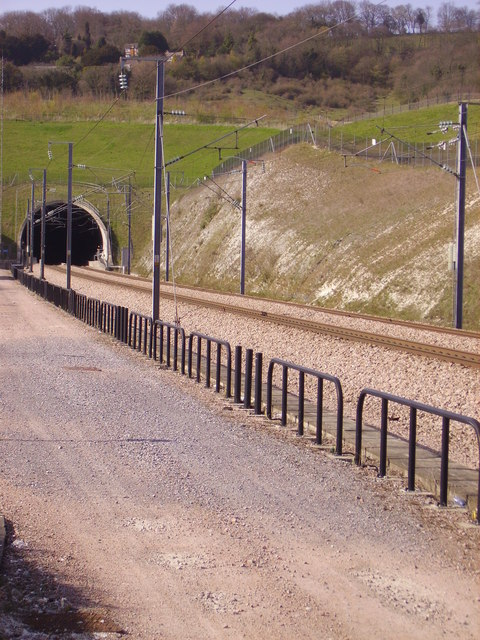 CTRL North Downs Tunnel in its setting