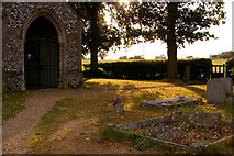 TG0934 : Gravestones, St Peter and St Paul Church, Edgefield, Norfolk by Christine Matthews
